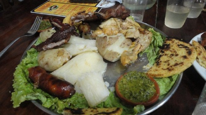 Comida típica santandereana